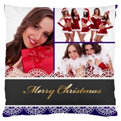 Christmas By Angena Jolin   Large Cushion Case (two Sides)   Gue2afj7p7nf   Www Artscow Com Front