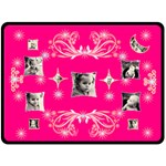 Starry Night pink XL Blanket - Fleece Blanket (Large)