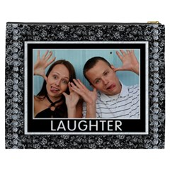 Love And Laughter Xxxl Cosmetic Bag By Lil    Cosmetic Bag (xxxl)   W4cr77ohlrfn   Www Artscow Com Back