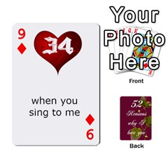 Cards By Allison Buice   Playing Cards 54 Designs   Ckz5sxgmo7pl   Www Artscow Com Front - Diamond9