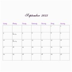 2016 Lavender Dream   Wall Calendar 11x8 5 (12mths) By Picklestar Scraps   Wall Calendar 11  X 8 5  (12 Months)   Hbbyqt1tqx8t   Www Artscow Com Sep 2016