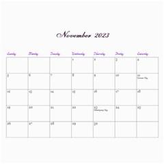 2016 Lavender Dream   Wall Calendar 11x8 5 (12mths) By Picklestar Scraps   Wall Calendar 11  X 8 5  (12 Months)   Hbbyqt1tqx8t   Www Artscow Com Nov 2016