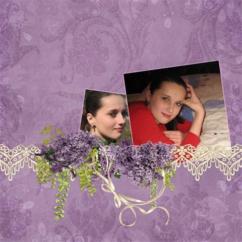 Lavender Dream   Scrapbook Page 12x12  By Picklestar Scraps   Scrapbook Page 12  X 12    Xr8sgwg6wlkq   Www Artscow Com 12 x12  Scrapbook Page - 1