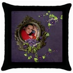 Lavender Dream - Throw Pillow Case  - Throw Pillow Case (Black)