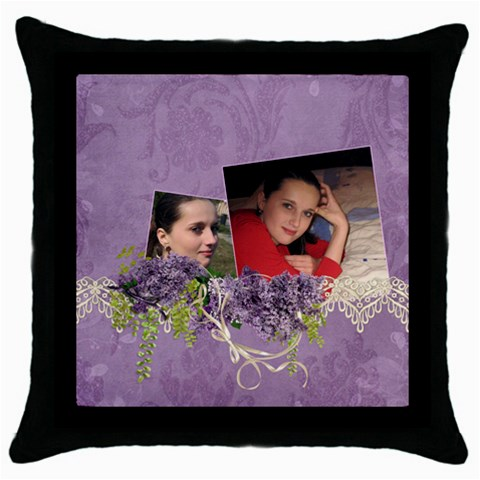 Lavender Dream   Throw Pillow Case  By Picklestar Scraps   Throw Pillow Case (black)   Mbedmbidoi11   Www Artscow Com Front