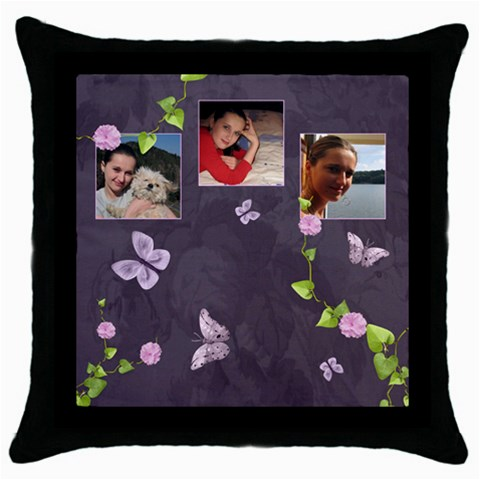 Lavender Dream   Throw Pillow Case  By Picklestar Scraps   Throw Pillow Case (black)   0gvgjkj0ibuq   Www Artscow Com Front