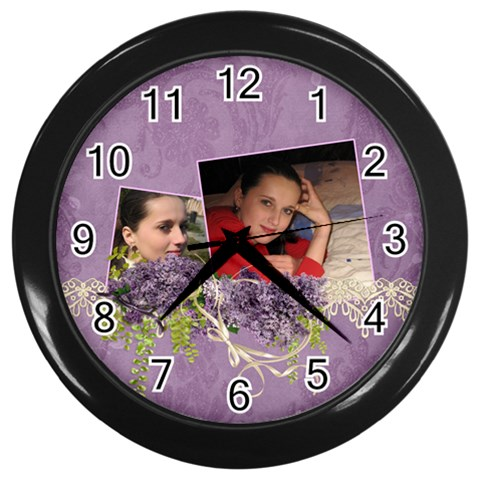 Lavender Dream   Wall Clock(black)  By Picklestar Scraps   Wall Clock (black)   J2vb050l1pdp   Www Artscow Com Front