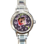 Lavender Dream - Round Italian Charm Watch