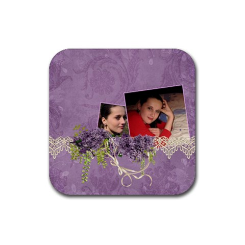 Lavender Dream   Rubber Square(4pack)  By Picklestar Scraps   Rubber Square Coaster (4 Pack)   Le0k15pvbqoa   Www Artscow Com Front