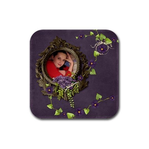 Lavender Dream   Rubber Coaster(square)  By Picklestar Scraps   Rubber Coaster (square)   Ep1tq93q2cq7   Www Artscow Com Front