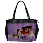 Lavender Dream - Oversize Office Handbag (One Side)