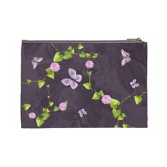 Lavender Dream   Cosmetic Bag (lg)  By Picklestar Scraps   Cosmetic Bag (large)   Pi8g6w6gqge6   Www Artscow Com Back