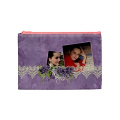 Lavender Dream   Cosmetic Bag (med)  By Picklestar Scraps   Cosmetic Bag (medium)   Gsm7rgd69x77   Www Artscow Com Front