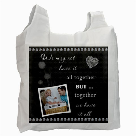 Together Recycle Bag (1 Sided) By Lil    Recycle Bag (one Side)   Rpaubvqnpf3h   Www Artscow Com Front