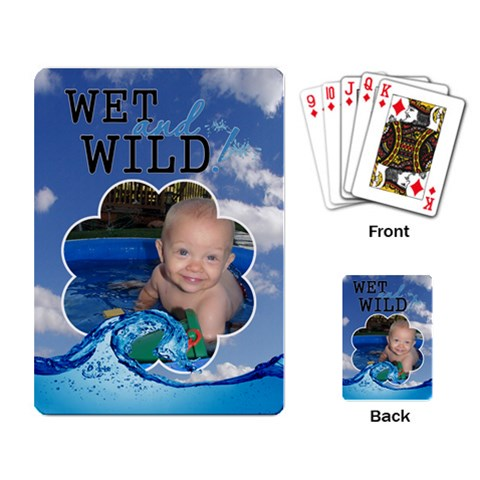 Wet And Wild Playing Cards By Lil    Playing Cards Single Design (rectangle)   7sp385ydns1x   Www Artscow Com Back