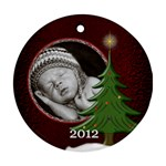 Special Christmas Round Ornament (2 Sided) - Round Ornament (Two Sides)