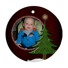 Special Christmas Round Ornament (2 Sided) By Lil    Round Ornament (two Sides)   2w1fby1iqsmw   Www Artscow Com Back