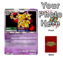 Pokemon 54 107 New By Seth   Playing Cards 54 Designs (rectangle)   2e16ryjf17ls   Www Artscow Com Front - Club6