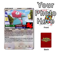 Jack Pokemon 108 151 Extras New By Seth   Playing Cards 54 Designs (rectangle)   U7nx7jmpxk6f   Www Artscow Com Front - HeartJ