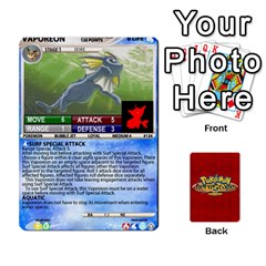 Queen Pokemon 108 151 Extras New By Seth   Playing Cards 54 Designs (rectangle)   U7nx7jmpxk6f   Www Artscow Com Front - HeartQ