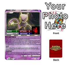 Jack Pokemon 108 151 Extras New By Seth   Playing Cards 54 Designs (rectangle)   U7nx7jmpxk6f   Www Artscow Com Front - SpadeJ