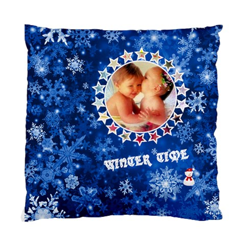 Blue Winter By Joanne5   Standard Cushion Case (one Side)   5bys7u4oyr94   Www Artscow Com Front