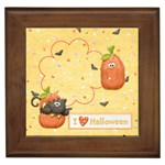 I love halloween framed tile