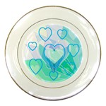 Hearts Plate - Porcelain Plate