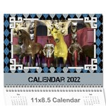 Blue Check Wall Calendar (any Year) 2017 - Wall Calendar 11  x 8.5  (12-Months)