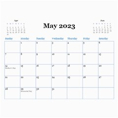 Blue Check Wall Calendar (any Year) 2017 By Deborah   Wall Calendar 11  X 8 5  (12 Months)   26g0lurebnb0   Www Artscow Com May 2017