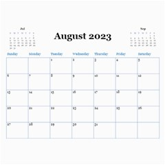 Blue Check Wall Calendar (any Year) 2020 By Deborah   Wall Calendar 11  X 8 5  (12 Months)   26g0lurebnb0   Www Artscow Com Aug 2020