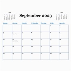 Blue Check Wall Calendar (any Year) 2017 By Deborah   Wall Calendar 11  X 8 5  (12 Months)   26g0lurebnb0   Www Artscow Com Sep 2017