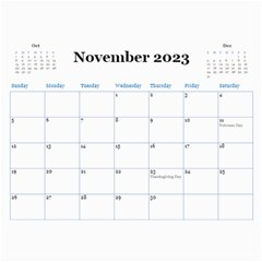 Blue Check Wall Calendar (any Year) 2017 By Deborah   Wall Calendar 11  X 8 5  (12 Months)   26g0lurebnb0   Www Artscow Com Nov 2017