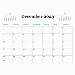 Blue Check Wall Calendar (any Year) 2017 By Deborah   Wall Calendar 11  X 8 5  (12 Months)   26g0lurebnb0   Www Artscow Com Dec 2017
