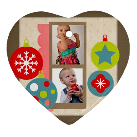Christmas By Mac Book   Ornament (heart)   E8ehpbu3dl5p   Www Artscow Com Front