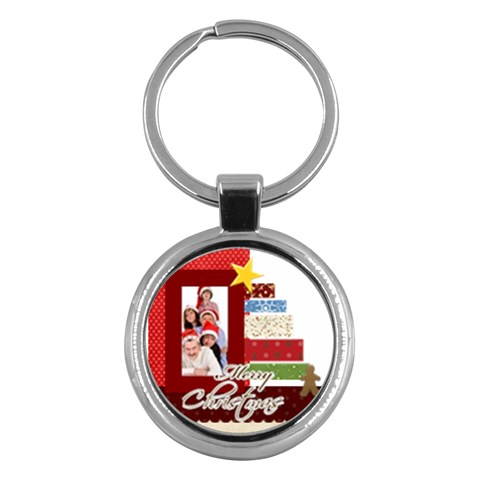 Christmas By Betty   Key Chain (round)   1auvkosa2zc2   Www Artscow Com Front