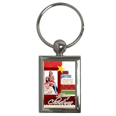 Christmas By Betty   Key Chain (rectangle)   S4jrtkgd3hah   Www Artscow Com Front
