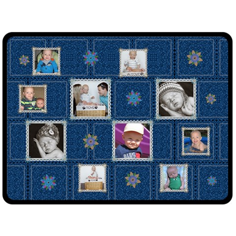 Pretty Blue Xl Fleece Blanket By Lil    Fleece Blanket (large)   Y1woycw3cirx   Www Artscow Com 80 x60 Blanket Front