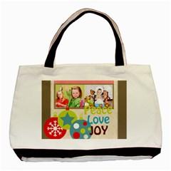 Christmas By Mac Book   Basic Tote Bag (two Sides)   76ogcl2yzeb5   Www Artscow Com Front