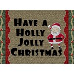 Holly Jolly 3D Christmas Card - Circle 3D Greeting Card (7x5)