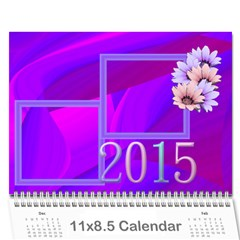 Colorful Calendar 2015 By Galya   Wall Calendar 11  X 8 5  (12 Months)   9qk39sxv0tuw   Www Artscow Com Cover