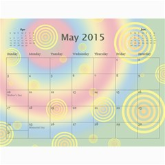 Colorful Calendar 2015 By Galya   Wall Calendar 11  X 8 5  (12 Months)   9qk39sxv0tuw   Www Artscow Com May 2015