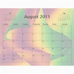 Colorful Calendar 2015 By Galya   Wall Calendar 11  X 8 5  (12 Months)   9qk39sxv0tuw   Www Artscow Com Aug 2015