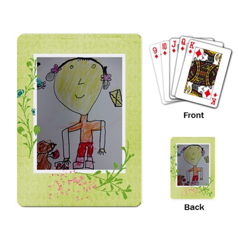By 劉雅婷   Playing Cards Single Design   F372058wdkr7   Www Artscow Com Back
