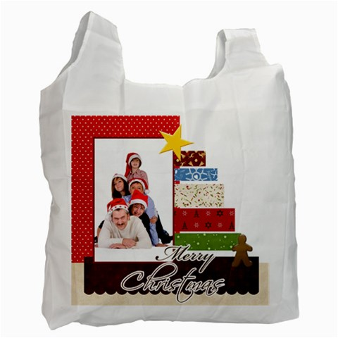 Merry Christmas By Betty   Recycle Bag (one Side)   1s2xe4r0r4el   Www Artscow Com Front