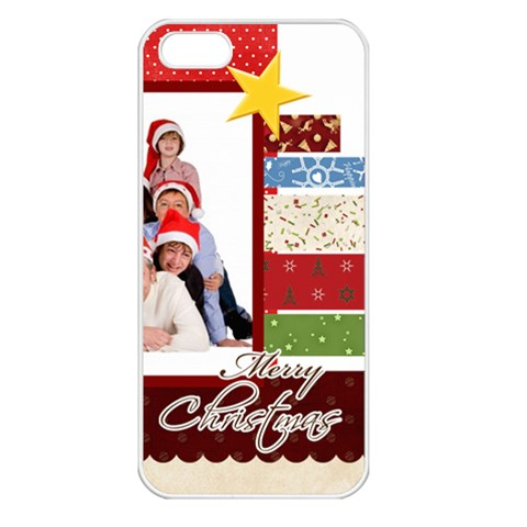 Merry Christmas By Betty   Apple Iphone 5 Seamless Case (white)   9nl7d7m9dix3   Www Artscow Com Front