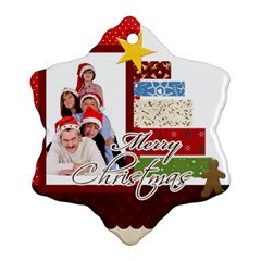 Merry Christmas By Betty   Snowflake Ornament (two Sides)   Vvr4syn2fqgj   Www Artscow Com Front