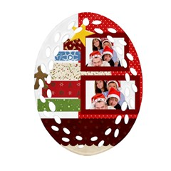 Merry Christmas By Betty   Oval Filigree Ornament (two Sides)   A2qf2flkup6l   Www Artscow Com Back
