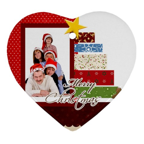 Merry Christmas By Betty   Ornament (heart)   Ax3jy2fkpwn3   Www Artscow Com Front