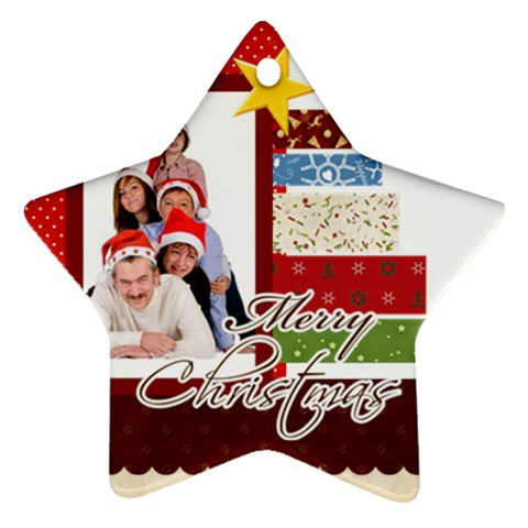 Merry Christmas By Betty   Ornament (star)   Qjcuuyepkyj0   Www Artscow Com Front